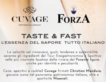 Maserati e Cuvage, quattro aperitivo gourmet in Riviera