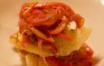 Acciughe in scabeccio con verdure e aceto di lampone