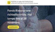 Contributo Ristorazione: da oggi fino a 10.000 Euro a fondo perduto